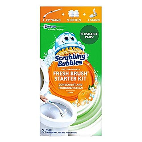 Scrubbing Bubbles Fresh Brush - Scrubbing Bubbles Fresh Brush Toilet Cleaning System Starter Kit, Citrus (Pack of 2)
