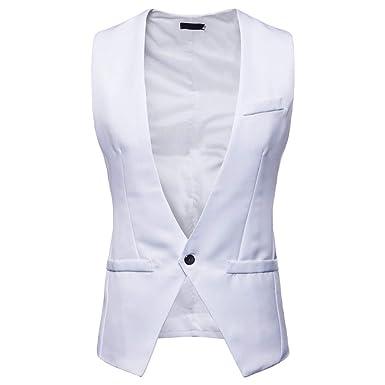 MrTom Chaleco Hombre Vestir Casual Boda Fiesta Traje Blazers ...