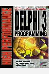 High Performance Delphi 3 Programming Paperback