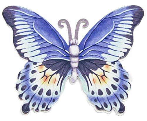 Screen Magnets (3 Inch Butterfly Metal Screen Door Saver 2 Piece Magnet Set (Blue))