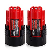 FLAGPOWER 2 Pack Replacement Battery M12 48-11-2401 12V Li ion for Milwaukee M-SPECTOR SUB-SCANNER
