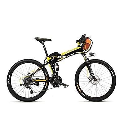 LANKELEISI TX660 240W 36V 15Ah 26 '' vélo électrique 27 vitesses, double suspension, jante en alliage de magnésium, vélo de montagne, vélo pliant E