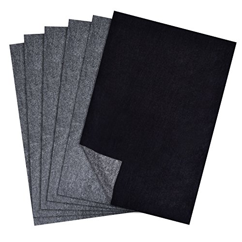 Hotop 100 Sheets Carbon Transfer Paper  Black Tracing Paper For Wood  Paper  Canvas And Other Art Surfaces  9 X 13 Inch
