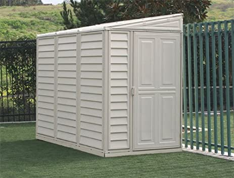 duramax model 00614 4x8 sidemate vinyl storage shed with foundation - Garden Sheds Vinyl