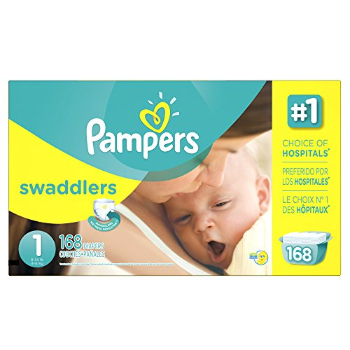 1 (Pampers Swaddlers Disposable Diapers Newborn Size 1 (8-14 lb), 168 Count, ECONOMY)
