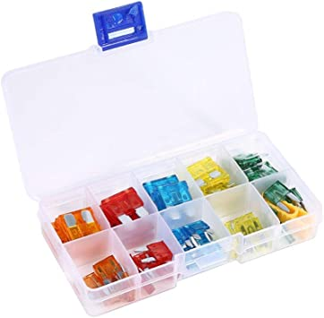 Standard AUTO Boat Truck Case Assorted Assortment Car Fuse  Blade FUSES Kit