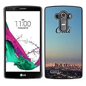 // PHONE CASE GIFT // Duro Estuche protector PC Cáscara Plástico Carcasa Funda Hard Protective Case for LG G4 / California skyline city LA los Angeles /