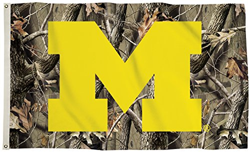 (Michigan Wolverines CAMO Realtree BSI 3x5 Flag w/grommets Banner University of)
