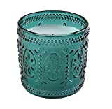 Sterno Products 60190 Amelia 3 1/2'' Teal Flameless Wax Filled Glass Lamp - 4-Pack