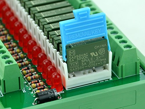 ELECTRONICS-SALON Slim DIN Rail Mount DC12V Source/PNP 32 SPST-NO 5A Power Relay Module, PA1a-12V by CZH-LABS (Image #3)