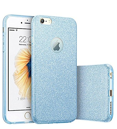 Hovisi Glitter Protective Cover [Soft TPU Cover + Glitter Paper + PP Inner Layer] for iPhone 6 / 6S 4.7 inch (Color3)