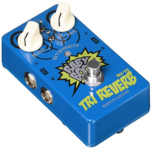 - Reverb Guitar Pedal,Biyang Stereo Effects Pedal 3 Modes Hall Spring Room True Bypass Guitar Mini Multi-effects Pedal Full Metal Shell