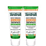 TheraBreath Fresh Breath Toothpaste fluoride Free Formula, Mild Mint Flavor, 4 Ounce Tube (Pack of 2)