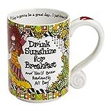 Enesco 4053270 Suzy Toronto Drink Sunshine For Breakfast Mug, 4.25, Multicolor by Enesco