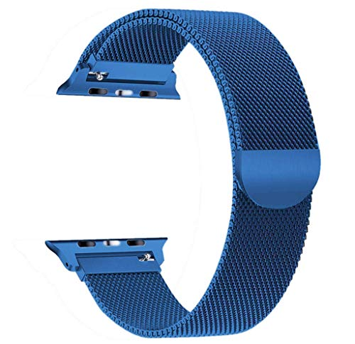 Vicole Compatible for iWatch Band 44mm, New Milanese Strong Magnetic Lock Bracelet Replacement Stainless Steel Wristband Strap for Apple Watch Series 4 44mm Smartwatch