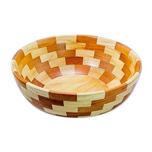 NOVICA Brown Wood Decorative Bowls, Maya ()