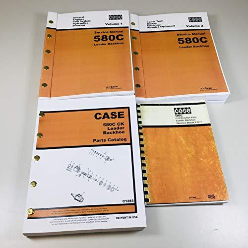 (Case 580C Construction King Loader Backhoe Service, Parts and Operators Manuals 4 Volumes)
