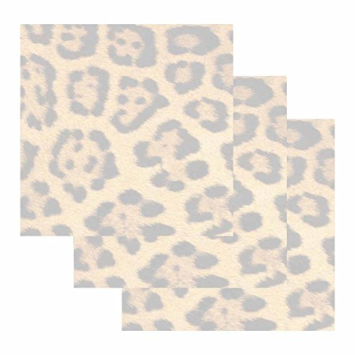 Leopard Print Sticky Notes - Set of 3 - Wildlife Animal Theme Design - Stationery Gift - Paper Memo Pad - Office Business School Supplies by Stationery Creations