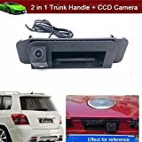 New 2 in 1 Replacement Car Trunk Handle + CCD Rear View Backup Reverse Parking Camera For Mercedes Benz C-class CLA GLC 2015 2016 2017 2018