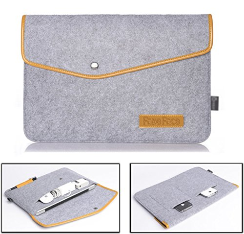 Slim Felt Lightweight 13-13.3 Inch Laptop Sleeve Case Cover Envelope Handbag Protector Briefcase for 13'' Apple Macbook Pro Retina/Macbook Air, iPad Pro, Ultrabook Netbook