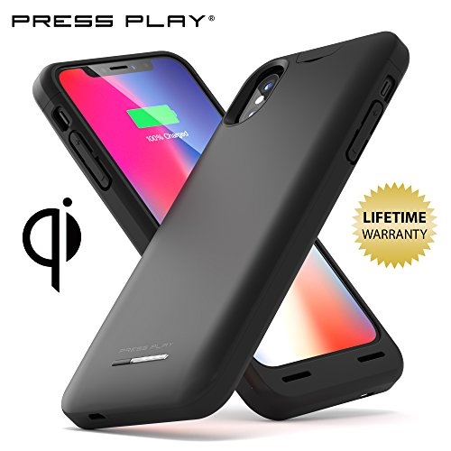 Iphone x battery case apple certified press play nero for Iphone x portable charger