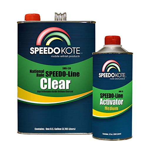 Speedokote SMR-130/75-K-M - Automotive Clear Coat Fast Dry 2K Urethane, 4:1 Gallon Clearcoat Kit w/Medium Act. (Best Automotive Clear Coat)