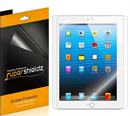 [3-Pack] Supershieldz- High Definition Clear Screen Protector for Apple iPad 4, 3 & 2 Generation + Lifetime Replacements Warranty