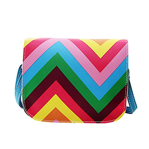 Totes Voberry Mini Rainbow Bag Shoulder Messenger Bag Women Bags Blue 4qAaqwXx7