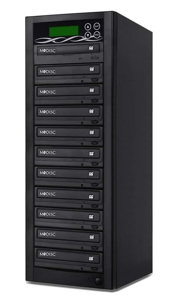 Bestduplicator BD-SMG-10T 10 Target 24x SATA DVD Duplicator with Built-In M-Disc Support Burner (1 to 10) by BestDuplicator