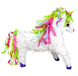 Pinatas Unicorn with Rainbow Mane, 3D Large Party Game, Photo Prop and Decoration