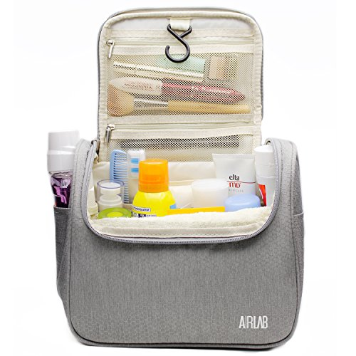 Toiletry Bag, Large Hanging Beauty Case with Handle and Hook, Cosmetic Bag for Men and Women, Size: 24 x 19.5 x 12.5 cm by Airlab