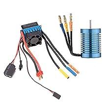 SODIAL(R) 3650 4370KV 4P Sensorless Motor with 45A Brushless ESC for 1/10 RC Car