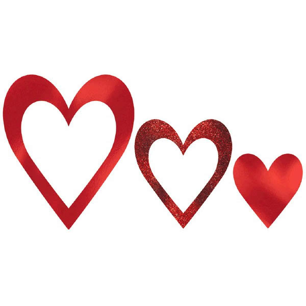 Valentine Heart Photo Props I 9 Pk Amscan 399276