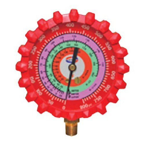 Ez-Flo 42258 Uniweld Red Replacement Manifold Gauges R410A, R22 R404