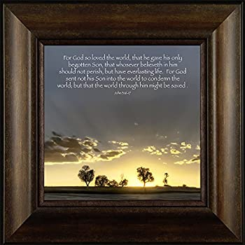tree sunshine proverbs psalms old new testament matthew mark luke john book of verse quote prayer cross christian framed art print wall dcor picture