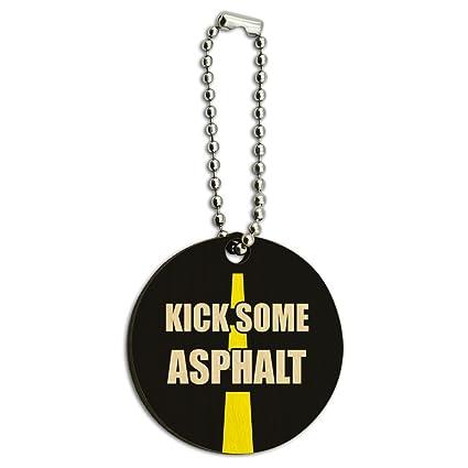Kick algunos asfalto Running corredores de madera redonda ...