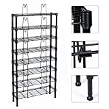 vhs and dvd storage - Topeakmart 8 Tier Adjustable Metal Media Storage Rack 432 DVD 228 CD 120 VHS Shelf, Black