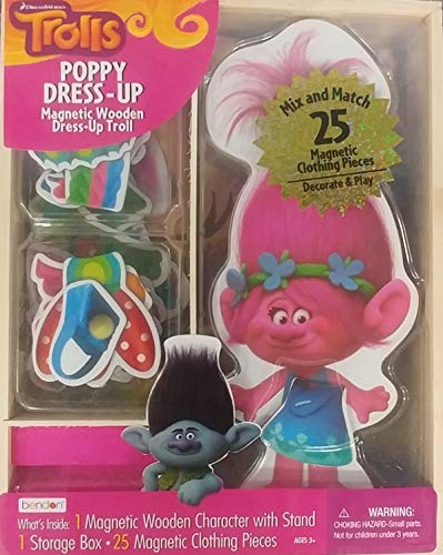 Bendon Trolls Poppy Dress-Up Magnetic Wooden Mix and -