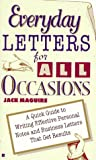 Everyday Letters for All Occasions, Jack Maguire, 0425150194