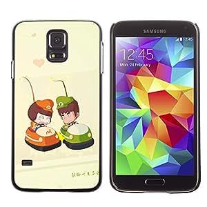 Paccase / SLIM PC / Aliminium Casa Carcasa Funda Case Cover - Cute Bumper Couple - Samsung Galaxy S5 SM-G900