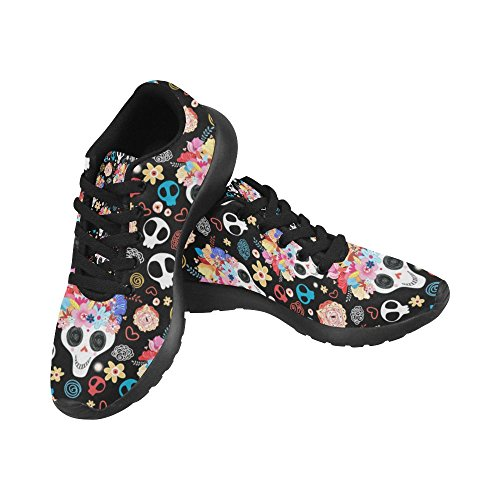 Jogging Sports Easy Skull Go Women's InterestPrint Shoes Flowers Lightweight Comfort Walking Sneaker Running Athletic 4U1R6pq