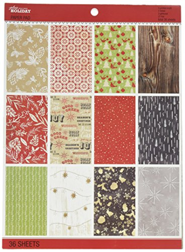 iday Scrapbook Paper Pad, 8.5 by 11-Inch ()
