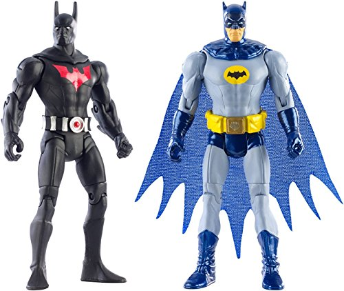 [Super Hero Batman Arkham City Batman Beyond vs Batman '66 4-Inch Action Figures Toys, 2 Pack] (Assassins Creed Costume For Kids At Party City)