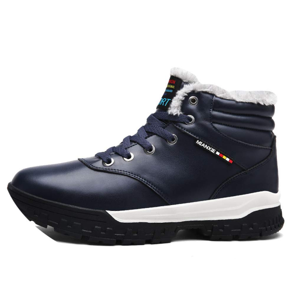 bluee 43 bluee 43 shoes Winter Cotton, High-Top Plus Velvet Sports Cotton, Large Size, Jogging, Simple Student