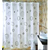 Shower curtain, waterproof Prevent mildew Keep warm PEVA material Shower curtains 120x180cm, 300x200cm ( Size : 120*200cm )