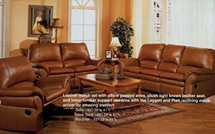 Outstanding Amazon Com 3Pc Light Brown Bayview Motion Recliner Loveseat Andrewgaddart Wooden Chair Designs For Living Room Andrewgaddartcom