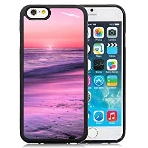 NEW Unique Custom Designed iPhone 6 4.7 Inch TPU Phone Case With Sunrise Horizon Calm Sea Beach_Black Phone Case