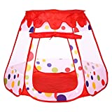 Truedays® Kids Outdoor /Indoor Play Tent House Children Play Balls Pit Pool Hut Safe Visibility,47.2'' X 43.3'' X 35.4''