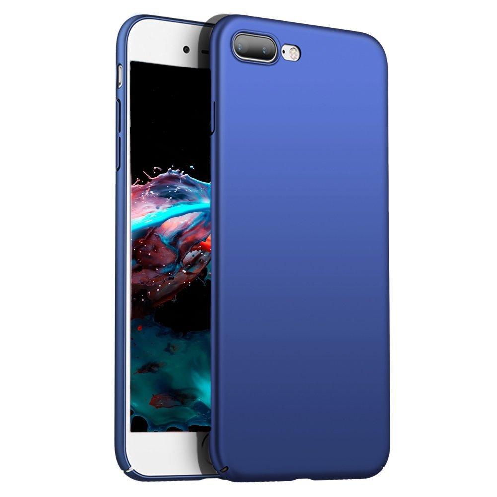 Coque iPhone 7iPhone 7Plus iPhone 8 Ezzymob [Ultra mince] [Design fin] finition mate avec une excellente prise en main [chargement sans fil possible] iPhone 7/8 Black
