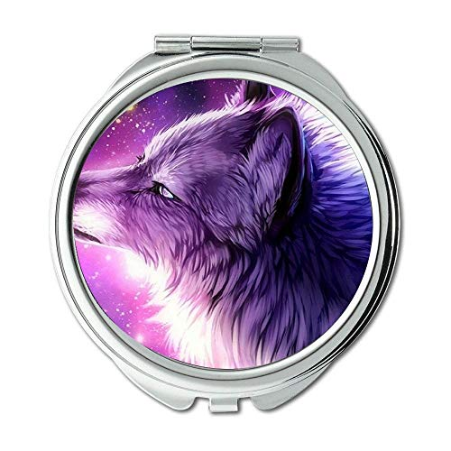 Mirror,makeup mirror,Has been funny spotted dog,pocket mirror,1 X 2X Magnifying ()